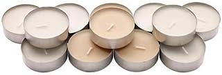 شمع معطر في كوب معدني, فانيلا حلوة, طبيعي 12 قطعة