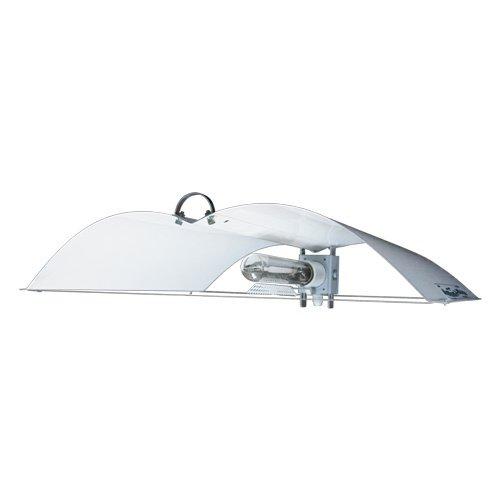 reflecteur Adjust-A-Wing Defender Blanc Taille moyenne avec fixation à pousser pour NDL Lampe à Vapeur de Sodium