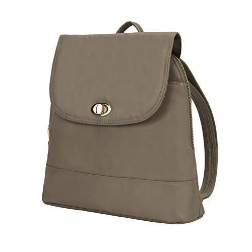 Travelon Women's Anti-Theft Tailored Backpack, Sable, 12 x 11 x 3.75