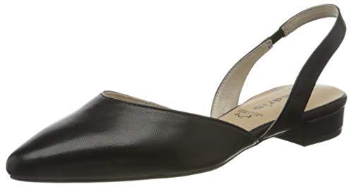 Tamaris Damen 1-1-29401-24 Slingback Ballerinas, Schwarz (Black Leather 003), 38 EU