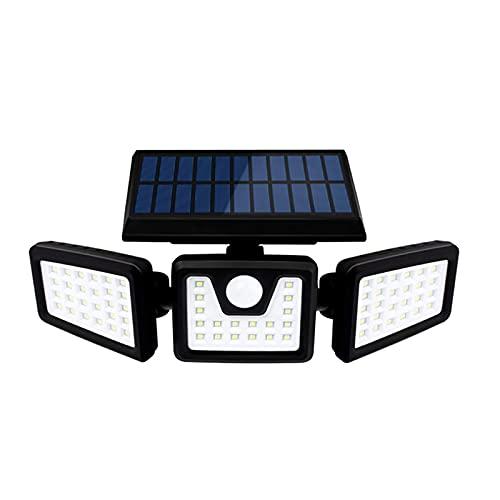 FVIWSJ Focos solares de paisaje, IP65, impermeables, con energía solar, para patio, jardín, entrada, porche, piscina, patio, A
