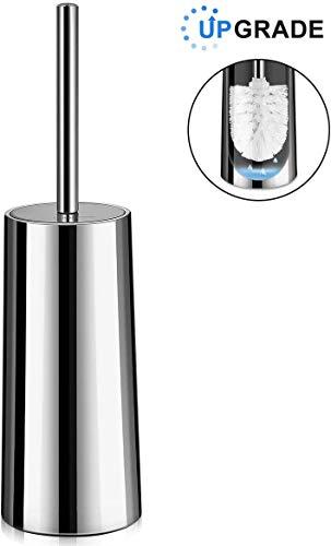 Homemaxs Scopino Bagno e Portascopino WC, Scopino per WC in Acciaio Inossidabile e Resistente alla Ruggine (Supporto Anche per Superficie a Specchio)