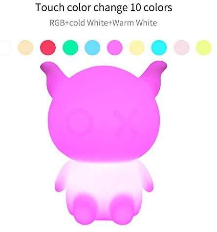 Night Lights Smart Cartoon coloré Petite Veilleuse commande vocale WiFi Réveil Timed Led Clap lumière PinBaiYa