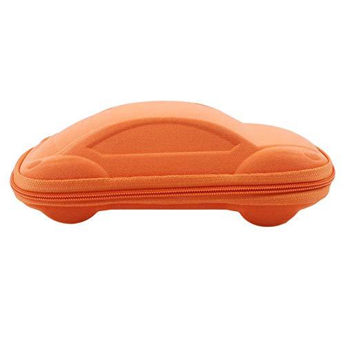 Boner Kinderen Kinderen Auto-vormige Brillenkoker Peutermode Draagbaar Lichtgewicht Brillenkoker, oranje