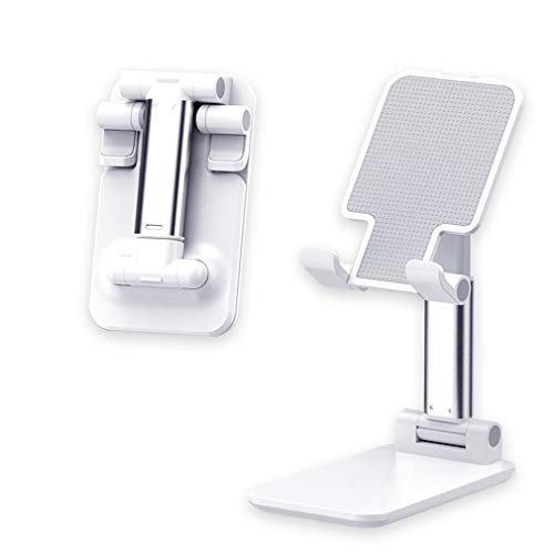 CMJL Soporte Tablet Portátil Soporte Teléfono Móvil Soporte Móvil Mesa Plegable Ajustable En Altura, Soporte para Teléfonos Móviles y Tabletas de Menos de 12,9 Pulgadas