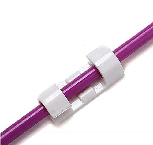Voarge Selbstklebend Kabelschellen/Kabel-clips, 40 Stk Selbstklebende für Schreibtisch, Netzkabel USB Ladekabel und Kabelführung, Anbringen an Wand oder Schreibtisch für Kabelmanagement Weiß