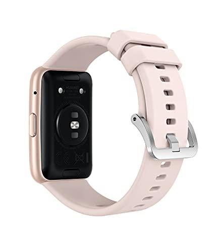 MoKo Silicona Correa de Repuesto Suave, Correa Reloj Compatible con Huawei Watch FitTranspirable, Resistente al Sudor,Liberación Rápida para Hombre Mujer, Rosa Flor de Cerezo