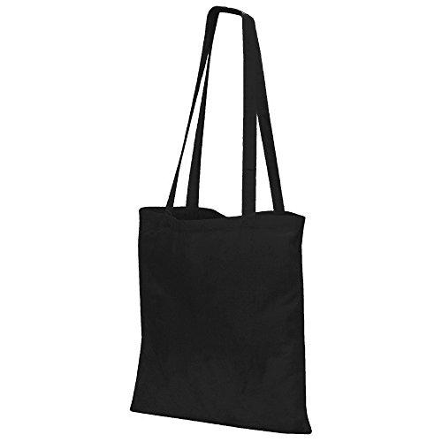 Jassz Bags - Bolso estilo tote de asa larga (Talla Única/Negro)