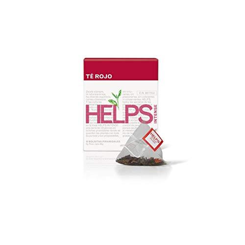 HELPS INFUSIES - Pu Erh rode thee en vetverbrandende groene thee met hibiscus, aardbeien en kiwi. High Theine Afslankthee. Doos met 10 piramides.
