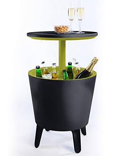 Ondis24 Keter Cool Bar, Beistelltisch mit Kühlmöglichkeit, Partytisch Stehtisch, Bistrotisch Cocktailbar ausziehbar, Kühlbox kühlt Getränke Eisbox, Gartentisch