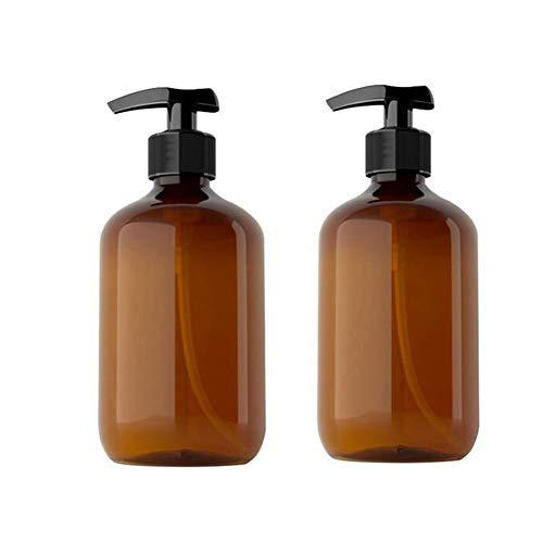 Queta 2 Stück Spenderflasche Seifenspender Lotionspender Leer Flasche Leere Shampoo Pumpflaschen Lotion Container Nachfüllbare Seifenspender Flasche 500ml