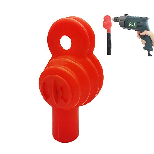 EZ SPARES Drill Dust Collector for Vacuum Cleaner,Drilling Holes Without Dust Messes,Rubber Will Adsorb on Any Wall,Fit Universal 32mm/35mm/38mm Vacuum Attachment,Light,Portable,Washable(Red)