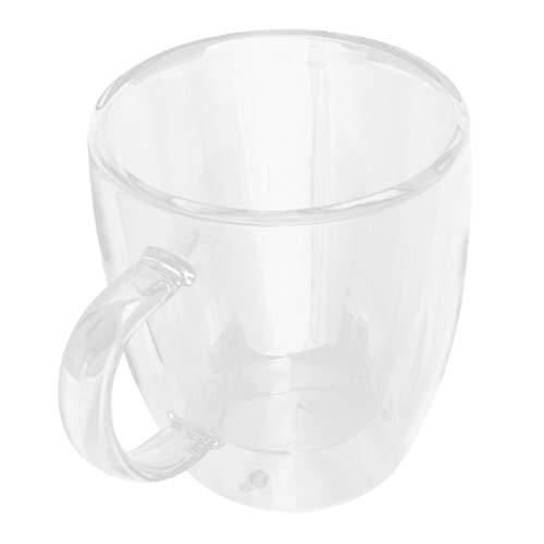160ml Klare Doppelwandige Kaffeegläser Kaffeetasse Glasbecher Gläser Becher für Kaffee Milch Getränke