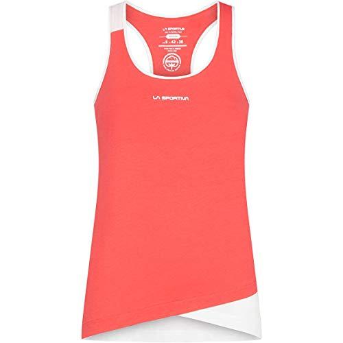 LA SPORTIVA W Paige Tank Rot, Damen T-Shirt, Größe M - Farbe Hibiscus - White