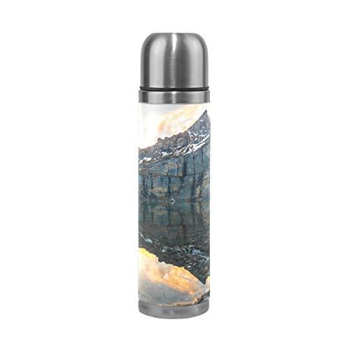 Eslifey Trinkflasche mit Waschbär, auslaufsicher, isoliert, doppeltes Vakuum, Edelstahl, 500 ml Einheitsgröße Multi 03