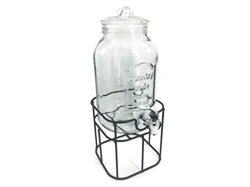 Bowle Glas Getränkespender mit Zapfhahn als Bowlebehälter mit Ständer