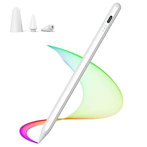 Penna Touch LEZUN, Matita da 1,0 mm per iPad 2018 2019 2020, Stilo per iPad con 2 Cappucci Ultrasottili, Matita per iPad con Funzione di Rilevamento Dell inclinazione, Adatta per la Pittura