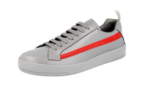 Prada Herren Grau Leder Sneaker 4E3196 6DT F0276 43 EU/UK 9