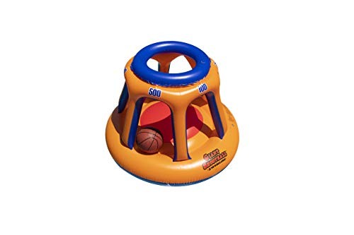 Swimline 90285 Giant Shootball Floating Pool Basketball Game, 1-Pack, Orange/Blue