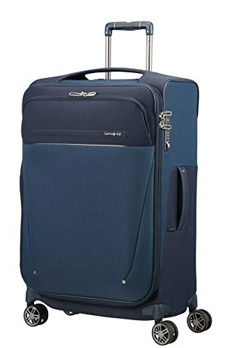 SAMSONITE B-Lite Icon - Spinner 71/28 Expandable, 83 L, 2.6 KG Hand Luggage, 71 cm, 90 liters, Blue (Dark Blue)