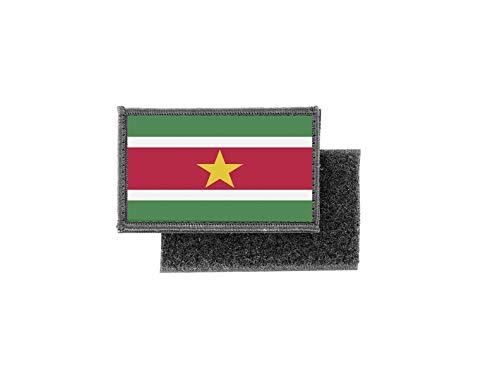 Opnaaier, bedrukt, badge, vlag Suriname