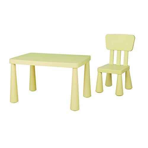 Tägliche Ausrüstung Kinder Schreibtisch und Stuhl Set Kleinkind Kinder Kinder Plastiktisch und Stühle Set für Lernaktivitäten im Innen- oder Außenbereich für Ihre Kinder Studiertisch Schreibtisch K