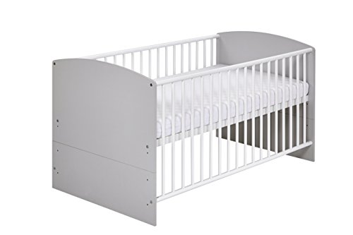 Schardt 04 492 46 02 Kombi - Kinderbett, Classic grey inklusive Umbaukit, 70 x 140 cm