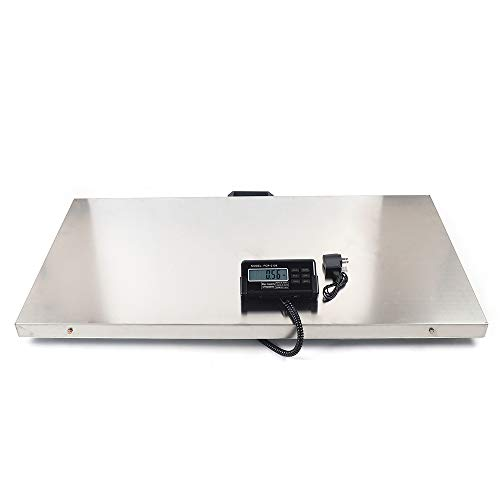 Veterinary Scale, 440LB Heavy Duty Digital Livestock Platform Scale with Power Adapter for Vet Animal Pet Cat Dog Cattle
