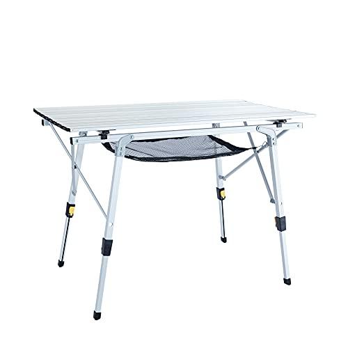 Uquip Variety M - Mesa para acampada, aluminio, 89 x 53cm, altura...
