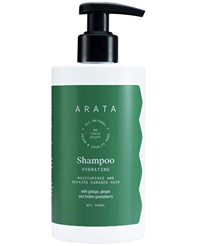 Arata Zero Chemicals Natural Hydrating Hair Shampoo With Ginkgo, Ginger & Indian Gooseberry For Men & Women 300 Ml
