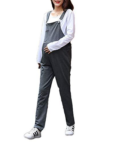 Latzhose | Umstandsmode | Maternity Dungarees | Overall Salopette | Umstandslatzhose Rauchfarben XL