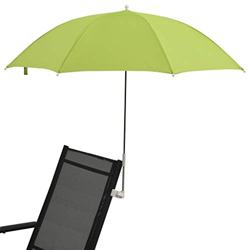 Tidyard 2 STK. Sonnenschirme für Campingstühle Liegestühle Angelstuhl Klappstuhl Stuhl Grün 105 cm