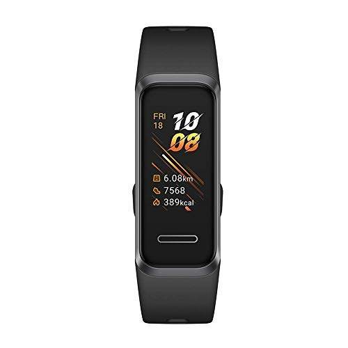 HUAWEI Band 4 Fitness Tracker, Schermo TFT a Colori da 0.96 ', Monitoraggio Continuo 24/7 con TruSeen TM 3.5, Monitoraggio Scientifico del Sonno, Resistente all'Acqua Fino a 5 ATM, Graphite Black