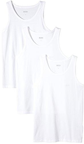 BOSS Herren Tank Top 3P BM 10111875 02 T-Shirt, Weiß (White 100), Small (Herstellergröße: S) (3er Pack)