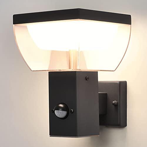 LED Aussenwandleuchten mit Bewegungsmelder Anthrazit eckig MA-310S SET (Wandleuchte mit Sensor)