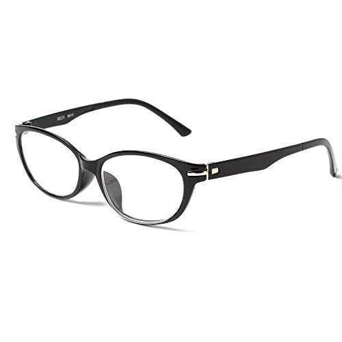 MIDI-ミディ 老眼鏡 UVカット 大きめのレンズを使った緩やかなラインのキャットアイフレーム リーディンググラス レディース ピアノブラック 度数+2.00 (m111,c1,+2.00)