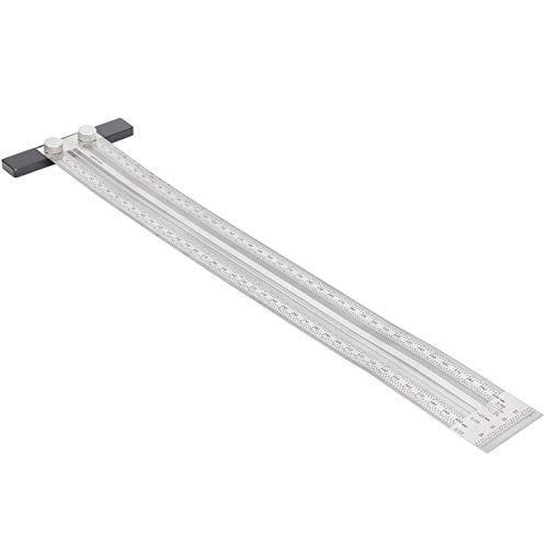 Agujero gobernante, Derecho T Tipo Escala gobernante Oxidación Tratamiento Inoxidable Acero Precisión Aprox 0.25 mm / 0.01