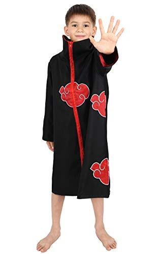CoolChange Akatsuki Mantel für Kinder Cosplay Kostüm Größe: 130