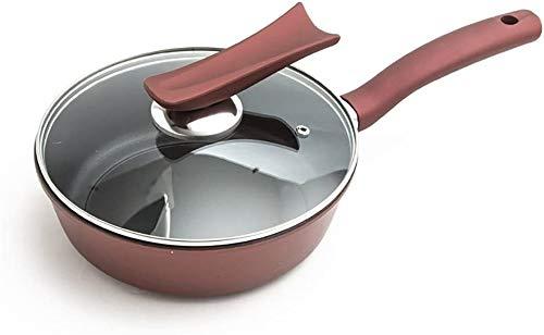 Warmer Leche Pan Pot InduccióN Profesional Pequeño wok con cubierta de vidrio Pan nonstick PAN NATURAL COCINA DE INTERMATIVA COCINA INDUSTRIAL UNIVERSAL HOGAR PAN PANTENIMIENTO DE COCINA DE COVIDOR DE