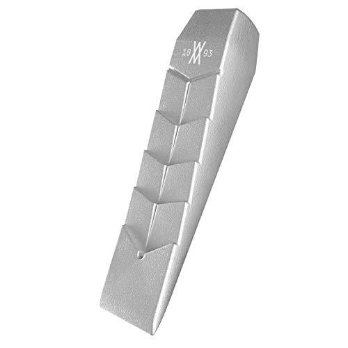 Cuña de tala de aluminio 890 gramos de WIESEMANN 1893 I Altura de elevación 50mm I Cuña de aluminio macizo I Apto para motosierra I 81413