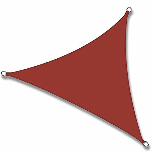 QAZW Markise Wasserdicht DreieckigesSonnenschutz Windschutz Sonnendach UV Schutz Garten Terrasse Balkon Oxford-Gewebe für Outdoor Garten Terrasse, mit Seilen und Befestigungs Kit,Redwine-3.6x3.6x3.6m