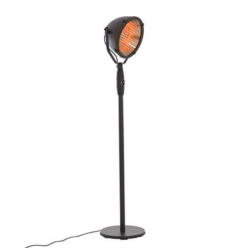RABURG elektrischer XXL Standheizstrahler für Terrasse, Garten & Balkon mit Abschaltautomatik im Industrial Retro Design, 3 Power Wärmestufen! (900-2100 Watt), Neigungswinkel verstellbar, schwarz