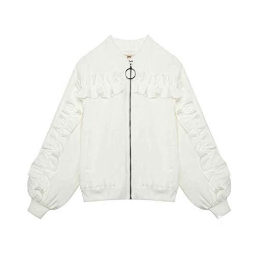 JFTMY Casual Vestido Blanco Damas Corta Primavera y otoño Nuevo Abrigo Casual Chaqueta Chaqueta Abrigo (Size : Small Size)