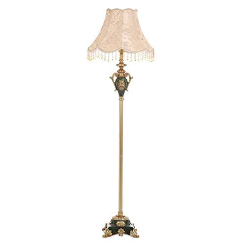 CLJ-LJ Lámpara de pie retro de resina para iluminación interior, lámpara de pie antigua, adecuada para salón, dormitorio, interruptor de pie