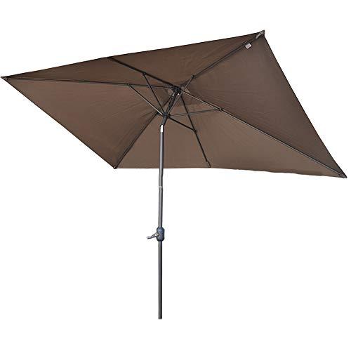 Parasol Rectángulo Sombrilla Plegable Voladiza Excéntrico Protección Solar Protección UV 50+ Sombrilla...
