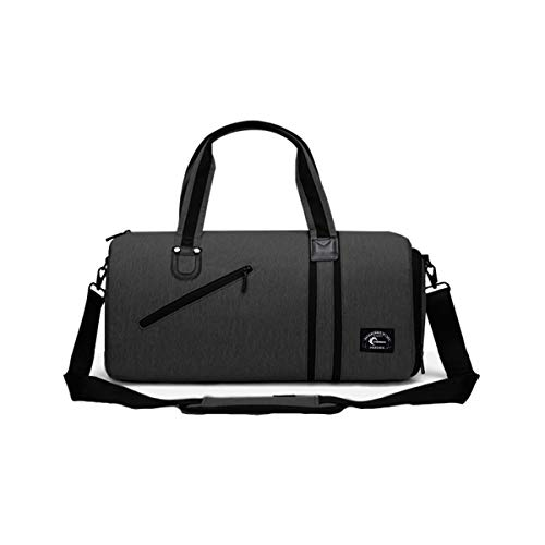 CHEREEKI Duffel Bag, Sports Gym Bag with Shoes Compartment & Wet Pocket for Men and Women (Black)