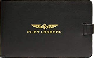Design 4 Pilots Professional Pilot Logbook Cover, eco-Friendly Leather, Pilot Gift