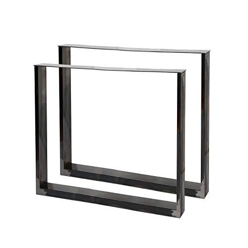 Bastidores para mesa 80x72 cm Acero lacado claro Caballetes