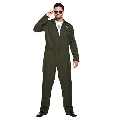 Best Dressed Adulto Hombre Piloto Aviador Disfraz - VARIOS COLORES, X-Large
