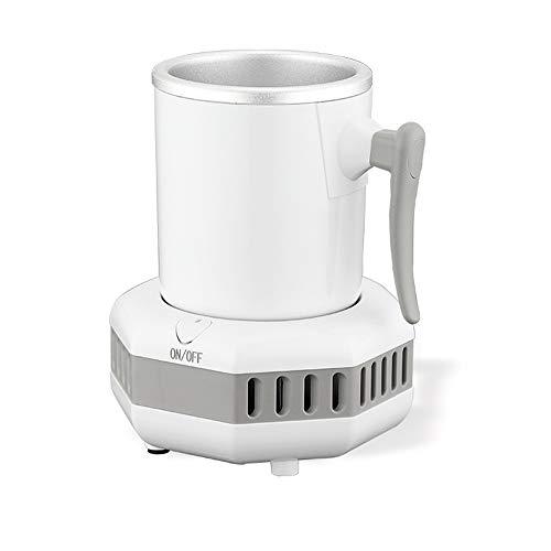 TXOZ - Q El enfriador de latas de bebidas, botella de cerveza de sobremesa, insulator frigorífico, taza fría para cerveza, cola, zumo, vino y bebidas. Refrigeración inteligente (color: blanco)